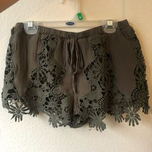 Olive green shorts size small